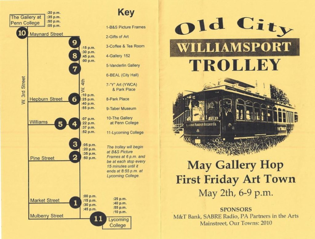 Old City Trolley First Friday Art Town Map is Issued