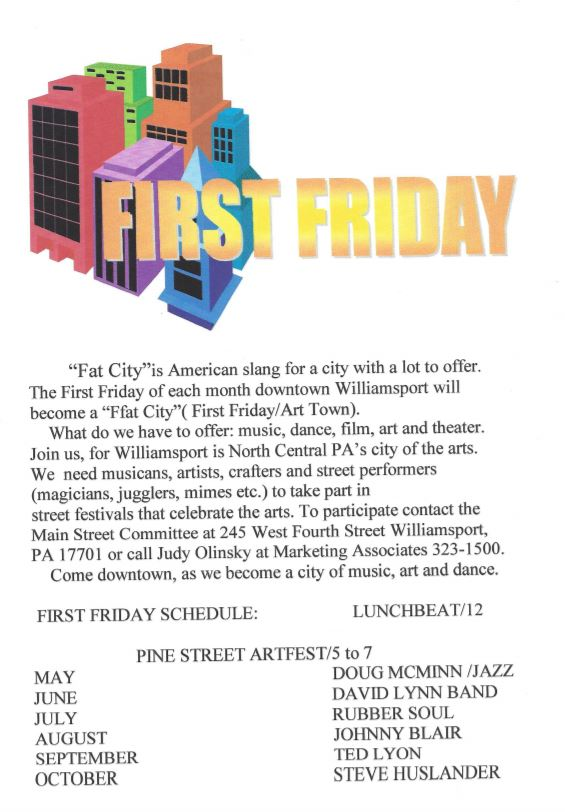 First Friday Ffat City Schedule is Issued
